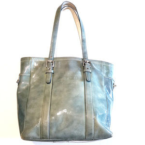 Coach Patent Leather Hobo Handbag *Flawed*